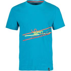 La Sportiva Stripe 2.0 T-paita Miehet, tropic blue